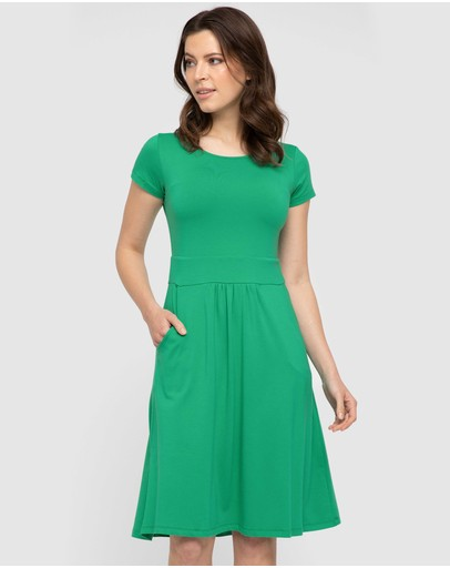 Bamboo Body Beth Dress Emerald