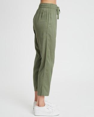 Calli Linen Blend Pants - Pants (Khaki)