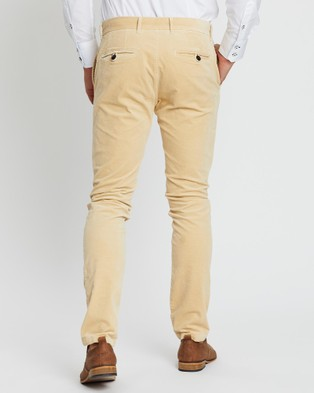 3 Wise Men Cord Pants - Pants (Sand)