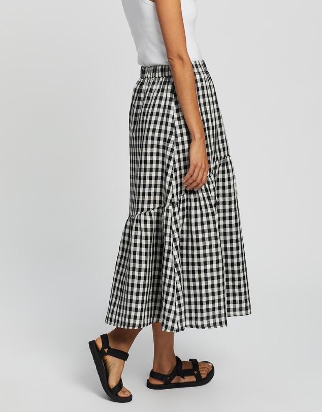 Women Tiered Midi Skirt