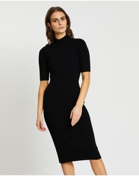 SABA - Ally Wool Rib Knit Dress