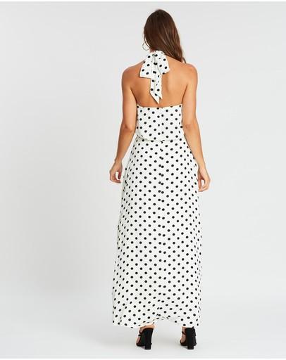 Honey And Beau Empirical Maxi Dress Polka Dots