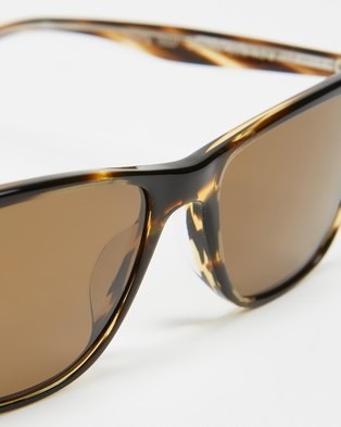 Oliver Peoples Ollis Sun - Square (Cocobolo & True Brown Polar)