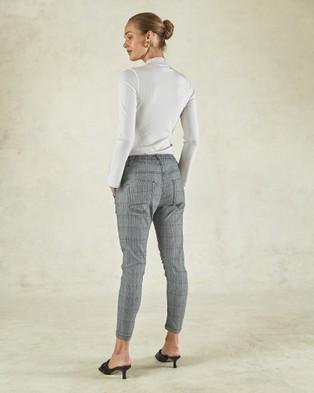 DRICOPER DENIM Active Check Jeans Pants Cobalt Blue Check