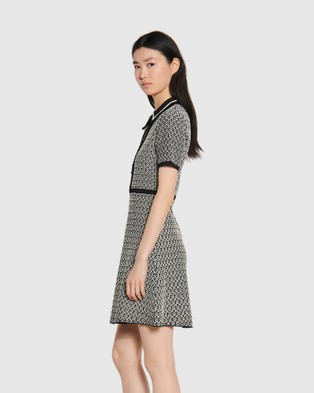Sandro Polie Dress - Dresses (BLACKWHITE)