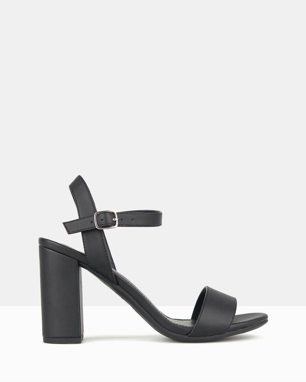 Betts Karly Block Heel Sandals Black