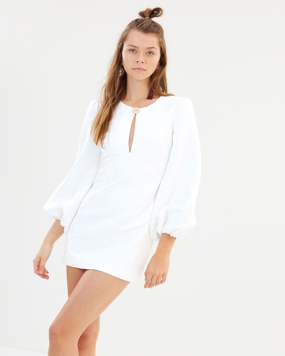 Finders Keepers Ivory Pompeii LS Dress