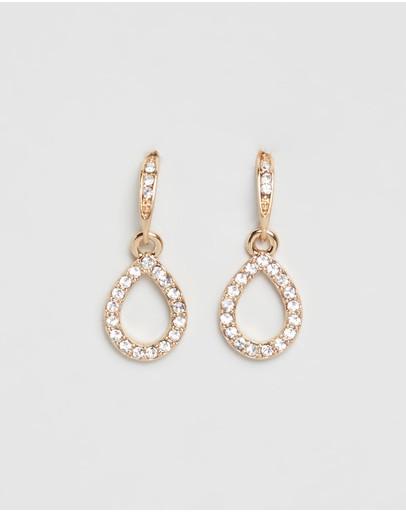 Mestige Harley Earrings With Swarovski® Crystals Gold