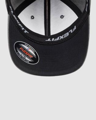 Quiksilver Mens Sidestay Flexfit??? Hat - Headwear (Black)