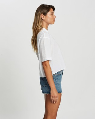 Atmos&Here Lucie Cotton Shirt - Tops (White)