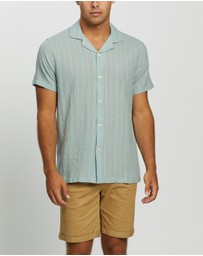 Abercrombie & Fitch - SS Textural Dobby Stripe Shirt