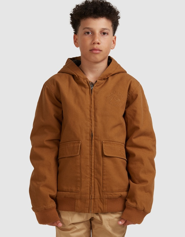 Quiksilver - Boys 8-16 Just Cool Hooded Canvas Jacket