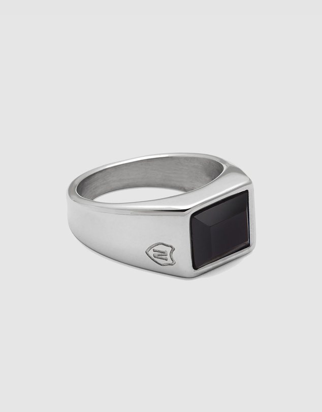Nialaya Jewellery - Men's Squared Signet Ring