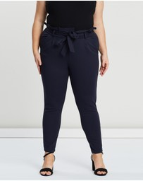 Vero Moda - Plus High-Waisted Paperbag Trousers