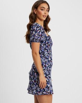 Tussah - Lauren Mini Dress - Dresses (Valentina Floral Navy) Lauren Mini Dress