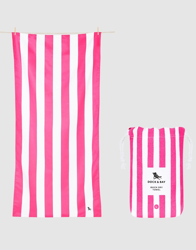 Life Large Beach Towel 100% Recycled Cabana Collection
