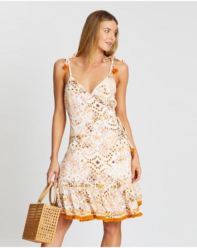 Gysette Krishna Print Wrap Dress Magnolia Meadows