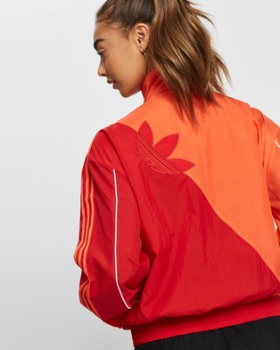 adidas Originals Adicolor Sliced Trefoil Track Top - Coats & Jackets (Semi Solar Red & Scarlet)