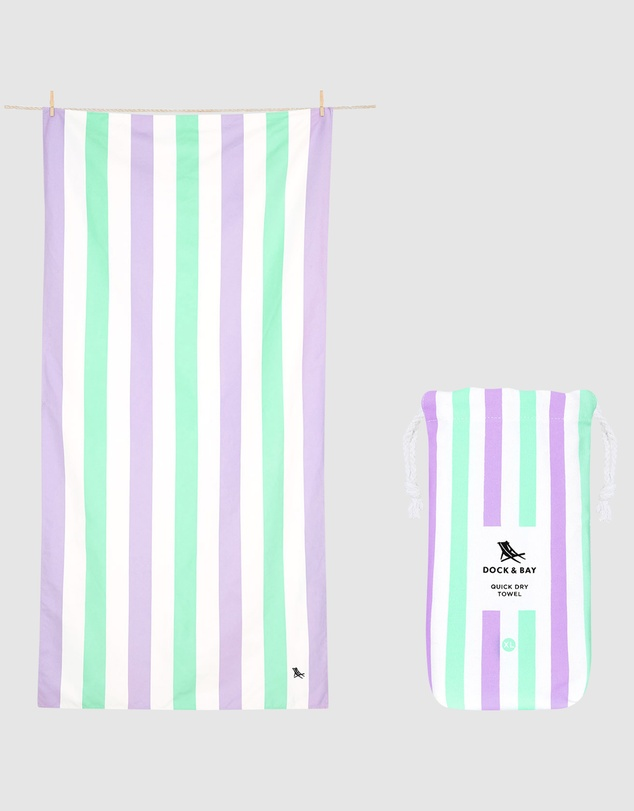 Dock & Bay - Extra Large Beach Towel 100% Recycled Summer Collection