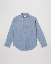 crewcuts by J Crew - LS Chambray Shirt - Teen