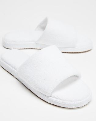 Staple Superior Ibiza Terry Towelling Slides - Sandals (White)