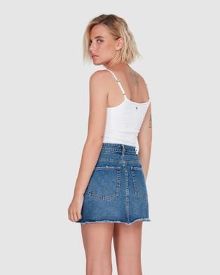 Element Andie Denim Skirt - Skirts (MID BLUE)