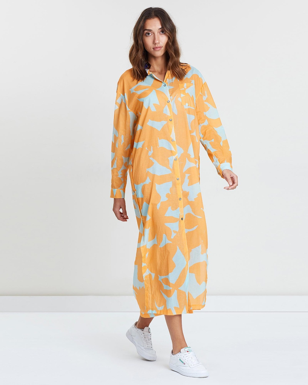 Double Rainbouu Yellow Sun Children Maxi Shirt Dress