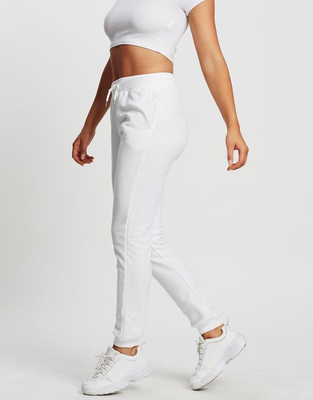 Women Reverse Fleece Super Slim Track Pants