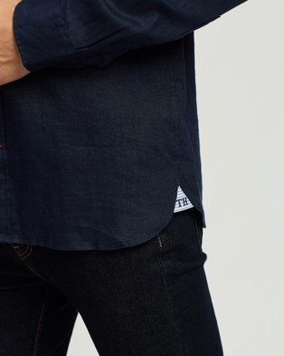 Tommy Hilfiger Solid Linen Shirt - Casual shirts (Navy)