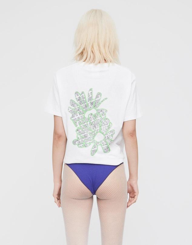 Women Single Jersey Fuzzy Daisy T-Shirt