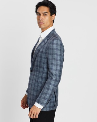 Gieves and Hawkes Formal Plaid Blazer - Suits & Blazers (Blue)