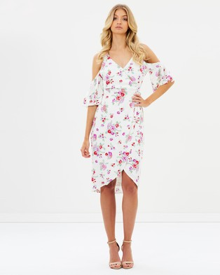 Atmos & Here – Camilla Cross Over Dress – Printed Dresses Wisteria Floral