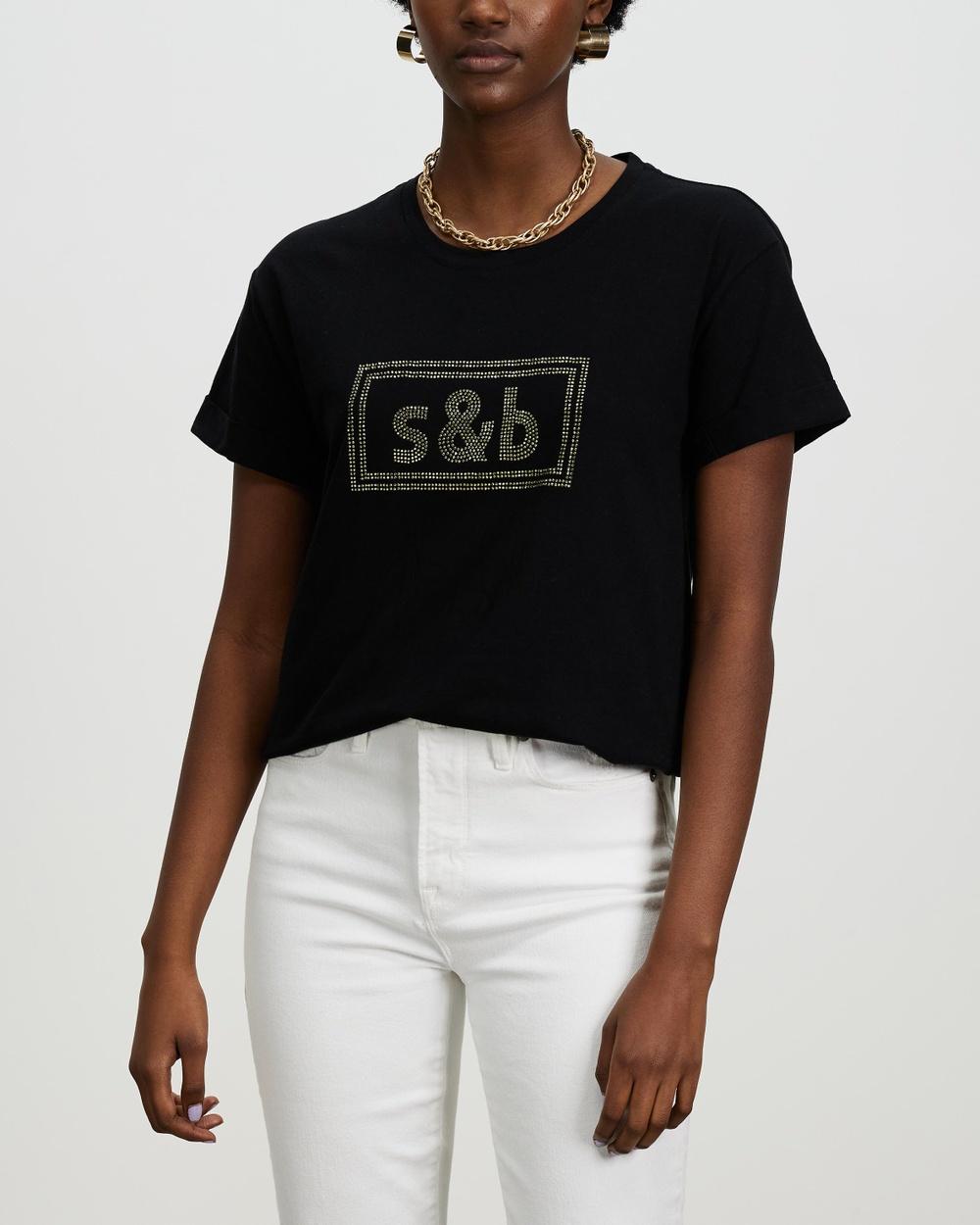 Sass & Bide The New Brave Tee T-Shirts Singlets Black