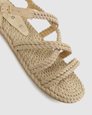 Betts Bert Rope Sandals - Casual Shoes (Nude)