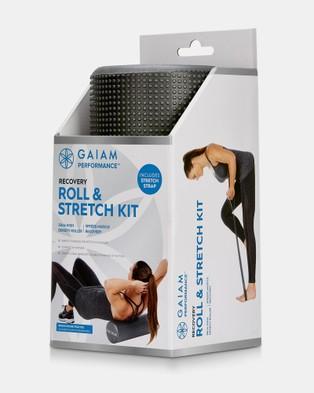 Gaiam Performance Roll & Stretch Kit 30cm - Training Equipment (Black)