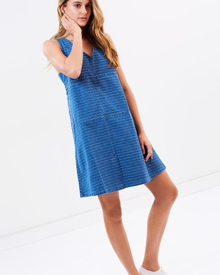 Ryder Label – Wilbur Denim Stripe Dress – Dresses (Denim)