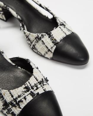 Atmos&Here Pamela Heels - Heels (White Tweed)