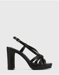 Wittner - Parie Snake Print Leather Block Heel Sandals