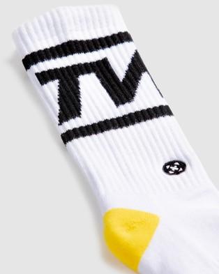 The WOD Life Everyday Core Socks - Crew Socks (WHITE/BLACK)