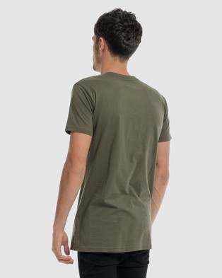DVNT Anchor Embroidery Tee - Short Sleeve T-Shirts (Green)