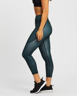 Dharma Bums - Bondi Pocket Recycled Printed 7 8 Leggings 7/8 Tights (Ziki) 7-8