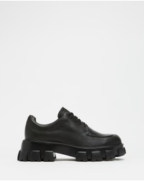 AERE - Chunky Cleated Leather Derbies