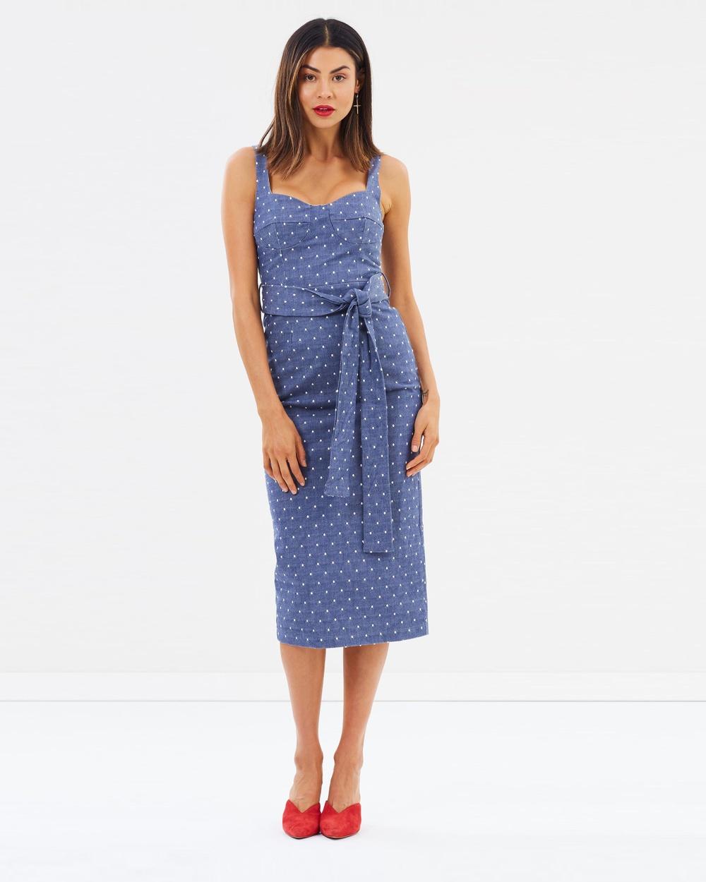 Pasduchas Getaway Brassiere Midi Dress Dresses Blue Getaway Brassiere Midi Dress