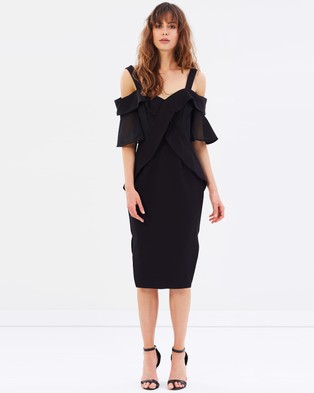 Talulah – Staccato Contrast Body Con Dress Black