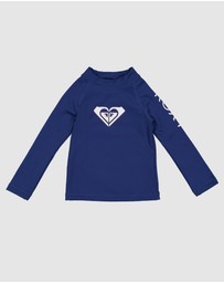 Roxy - Girls 2-7 Heater Long Sleeve UPF 50 Rash Vest