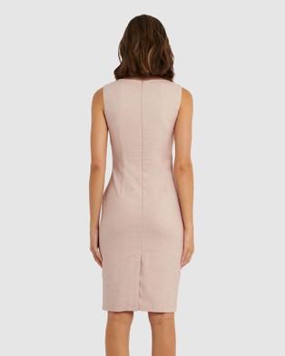 Forcast Rosa Pencil Dress - Dresses (Dusty Pink)