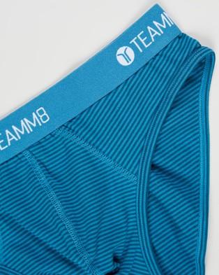 TEAMM8 Super Low Stripe Briefs 4 Pack - Briefs (Multi)