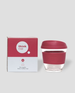 Think Cups Think Cup 8oz - Travel and Luggage (Red)