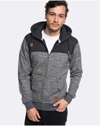 Quiksilver - Mens Keller Block Zip Polar Fleece Hoodie