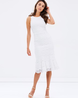 Atmos & Here – Highlight Lace Midi Dress – Dresses (White)